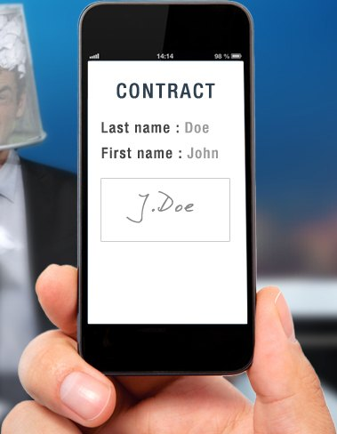 sign online a contract